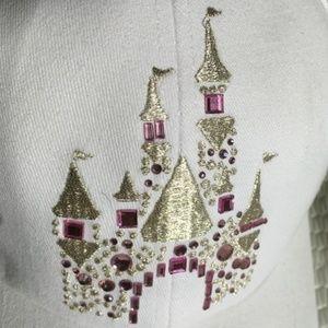 NWT Disney Parks Embellished Castle Hat White